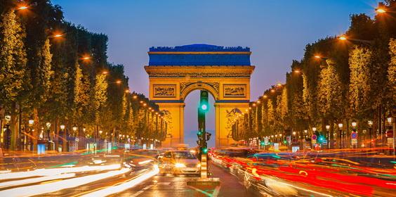francuski nauka pod łukiem triumfalnym